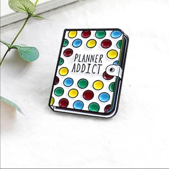 Planner Addict Enamel Pin